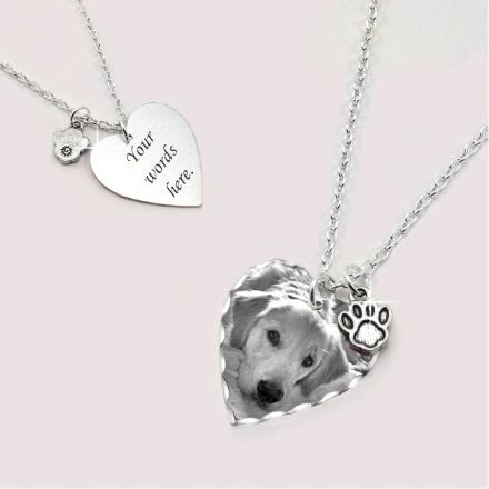 Pet Photo Heart Necklace